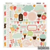 Наклейки от Echo Park - Sweet Day Collection - 12 x 12 Cardstock Stickers - Elements, 30x30