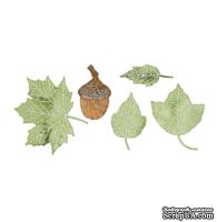 Набор лезвий Dimensional Small Leaves #2 от Cheery Lynn Designs, 5 шт.
