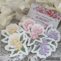 Вышитая миниатюра - цветочный патч от Allmacraft, цвет на выбор