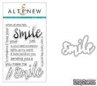 Набор ножей и штампов от Altenew - Halftone Smile Stamp & Die Bundle, 14 штампов +1 нож