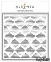 Маска -трафарет  от Altenew - Sketched Lines, 15х15 см