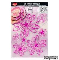 Штамп силиконовый от Viva Decor - Цветок принцессы, 14x18 см