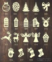 Деревянные игрушки на елку, серия 1