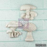 Набор гипсовых украшений от Prima - Shabby Chic Resin Treasures Mushrooms - Грибочки, 3 шт.