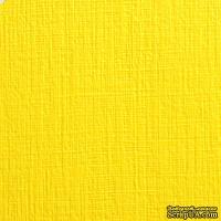 Дизайнерский картон с текстурой льна Sirio tela limone, 30х30, желтый, 290 г/м2
