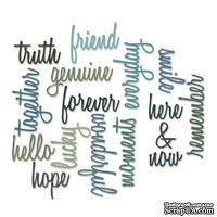 Лезвие от Sizzix - Tim Holtz - Thinlits Dies Script Friendship Words Collection pk of 16 - Слова