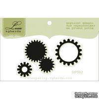 Акриловый штамп Lesia Zgharda StP002 Стимпанк шестеренки, размер 5,4х3,2 см.