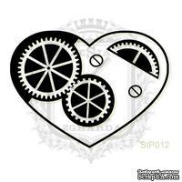 Акриловый штамп Lesia Zgharda StP012 Сердце с шестеренками