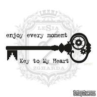 Набор мини-штампов Lesia ZghardaStP021 Ключ к моему сердцу, 3 штуки