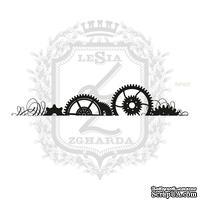 Акриловый штамп Lesia ZghardaStP022 Бордюр с шестерней