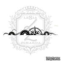 Акриловый штамп Lesia ZghardaStP023 Бордюр с розой ветров