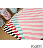 Конвертик в диагональную полоску, красный с белым, Diagonal Striped Bigger Bitty Bags, 15,9х23,5см, 1 шт.