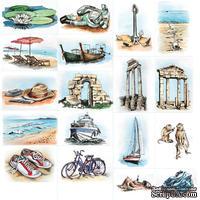 """Лист """"Картинки про отдых"""", дизайн Елены Виноградовой, 30х30 см"""