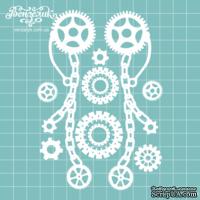 Чипборд от Вензелик - Набор стимпанк 04, размер: 9,4 x 13,5 см