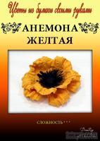 Набор тутовой бумаги для создания цветов - анемона желтая
