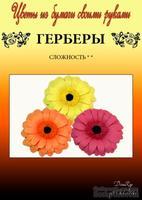 Набор тутовой бумаги для создания цветов - герберы