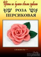 Набор тутовой бумаги для создания цветов - роза персиковая