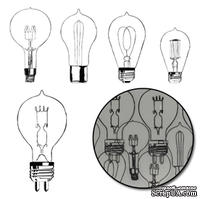 Набор высечек от Maya Road -  Eureka Light Bulb Transparencies - Black