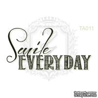 Акриловый штамп Lesia Zgharda TA011 Smile EVERYDAY, размер 4.5х2.2 см