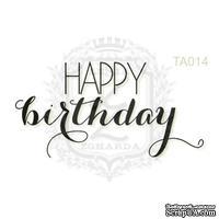 Акриловый штамп Lesia Zgharda TA014 HAPPY birthday, размер 4.3х3.2 см