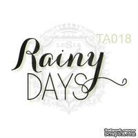 Акриловый штамп Lesia Zgharda TA018 Rainy DAYS, размер 2.6х1.4 см