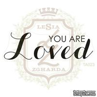 Акриловый штамп Lesia Zgharda TA023 YOU ARE LOVED, 6.1х1.9 см.