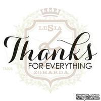Акриловый штамп Lesia Zgharda TA028 THANKS FOR EVERYTHING, 7.5х3.0 см.