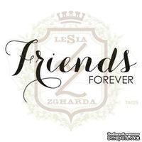 Акриловый штамп Lesia Zgharda TA029 FRIENDS FOREVER, 8.0х3.9 см.