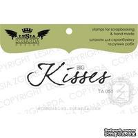 Акриловый штамп Lesia Zgharda TA051 Big kisses, размер 5x1,5 см