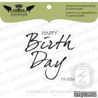 Акриловый штамп Lesia Zgharda TA055a Happy birthday, размер 3,9x3,7 см