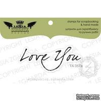 Акриловый штамп Lesia Zgharda TA057a Love you, размер 5*2 см