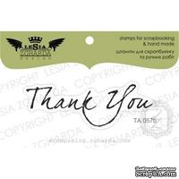 Акриловый штамп Lesia Zgharda TA057b Thank you, размер 5,9*2 см