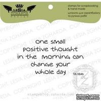 Акриловый штамп Lesia Zgharda TA064b One small positive thought, размер 6,5x3,5 см