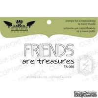 Акриловый штамп Lesia Zgharda TA066 Friends are treasures, размер 4,4x1,7 см