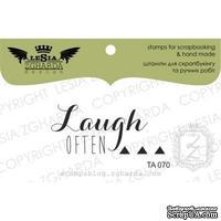 Акриловый штамп Lesia Zgharda TA070 Laugh often, размер 4,3x1,9 см