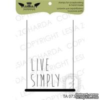 Акриловый штамп Lesia Zgharda TA073 Live simply, размер 3,5x5 см