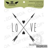Акриловый штамп Lesia Zgharda TA077 Love, размер 2,9x3,5 см