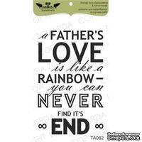 Акриловый штамп Lesia Zgharda TA082 A fathers love..., размер 4,1х6,6 см