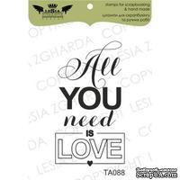 Акриловый штамп Lesia Zgharda TA088 All you need is love, размер 2,7х4,9 см