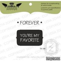 Набор акриловых штампов Lesia Zgharda TA109 Forever you're my favorite