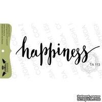 Акриловый штамп Lesia Zgharda TA113 Happiness, 7,3*2,6 см.