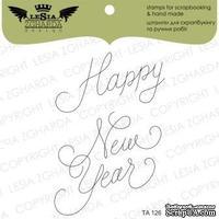 Акриловый штамп Lesia Zgharda TA126 Happy New Year, 2 шт., размер набора 10х10 см