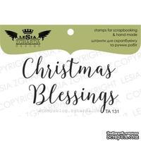 Акриловый штамп Lesia Zgharda TA131 Christmas Blessings, размер 9х5 см