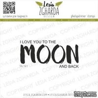 Акриловый штамп Lesia Zgharda I love you to the MOON and back TA141