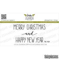 Акриловый штамп Lesia Zgharda TA161 Merry Christmas and Happy New Year, размер 9х3 см - ScrapUA.com