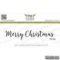 Акриловый штамп Lesia Zgharda TA164 Merry Christmas, размер 7.4х1.4 см