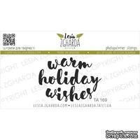 Акриловый штамп Lesia Zgharda TA169 Warm holiday wishes, размер 4.1х2.9 см
