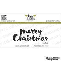 Акриловый штамп Lesia Zgharda TA173 Merry Christmas, размер 5.2х1.9 см