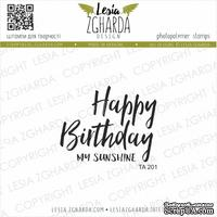 Акриловый штамп Lesia Zgharda Happy Birthday TA201