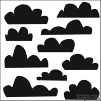 Маска The Crafter's Workshop - Mini Template Clouds, 15х15 см